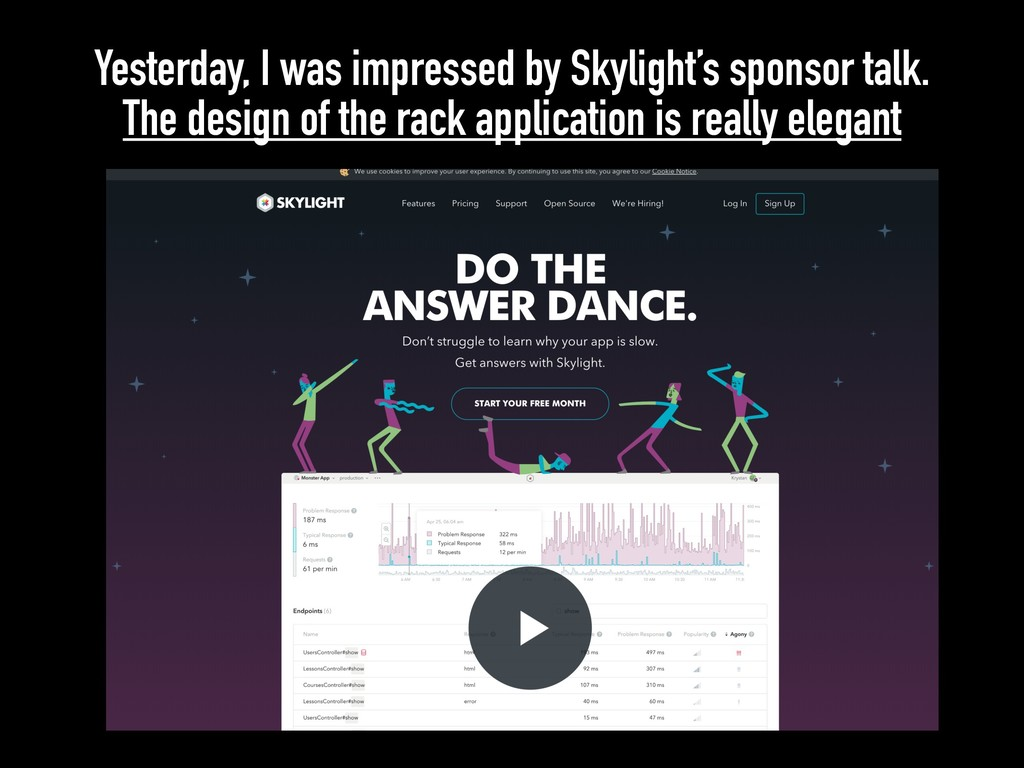 Yesterday, I was impressed by Skylight's sponso...