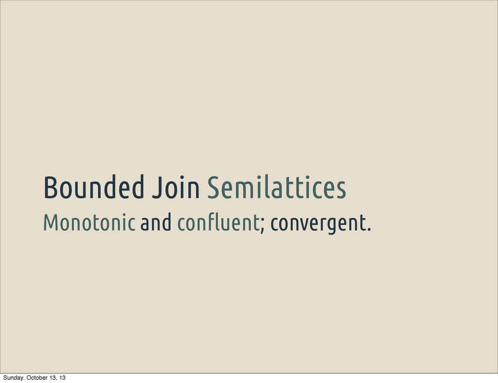 """Monotonic and con""""uent; convergent. Bounded Joi..."""