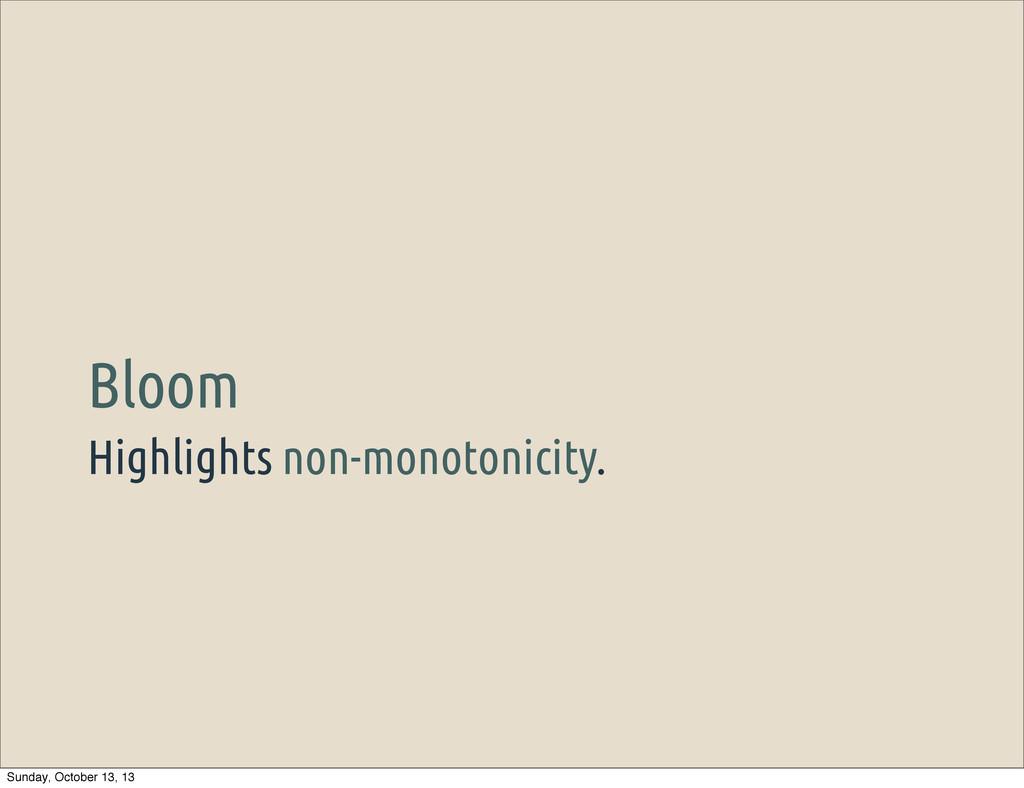 Highlights non-monotonicity. Bloom Sunday, Octo...