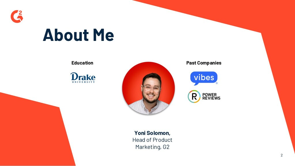 2 About Me Yoni Solomon, Head of Product Market...