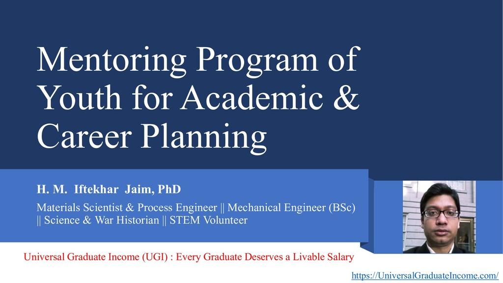 Mentoring Program of Youth for Academic & Caree...