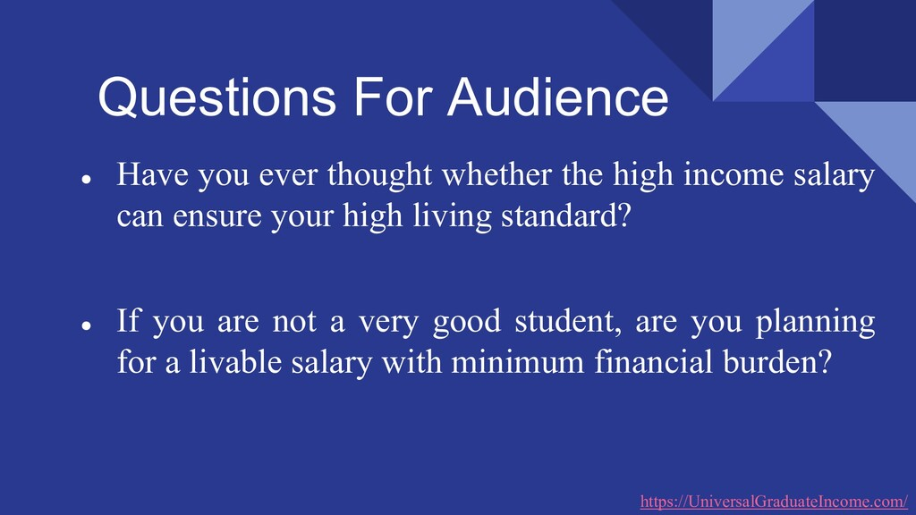 Questions For Audience ● Have you ever thought ...