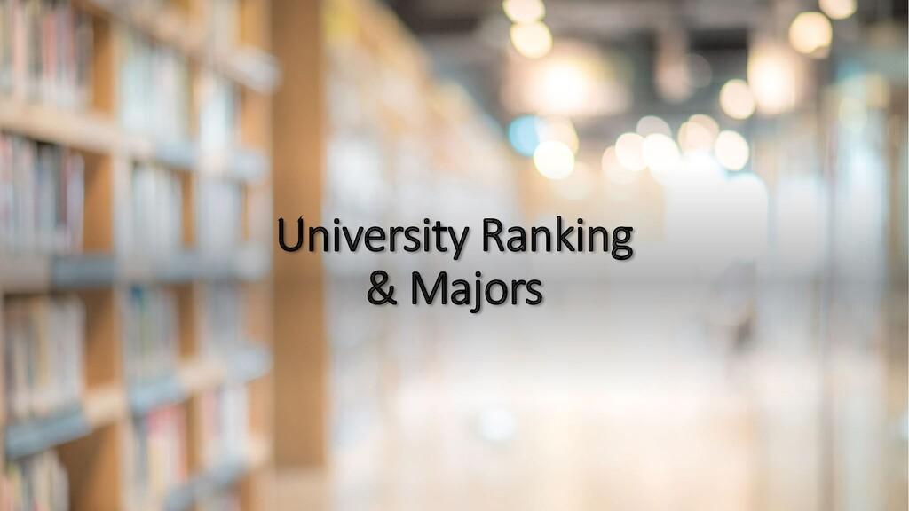 University Ranking & Majors