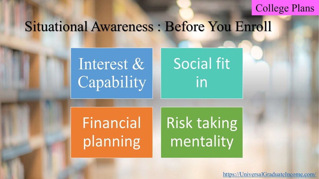 College Plans Situational Awareness : Before Yo...