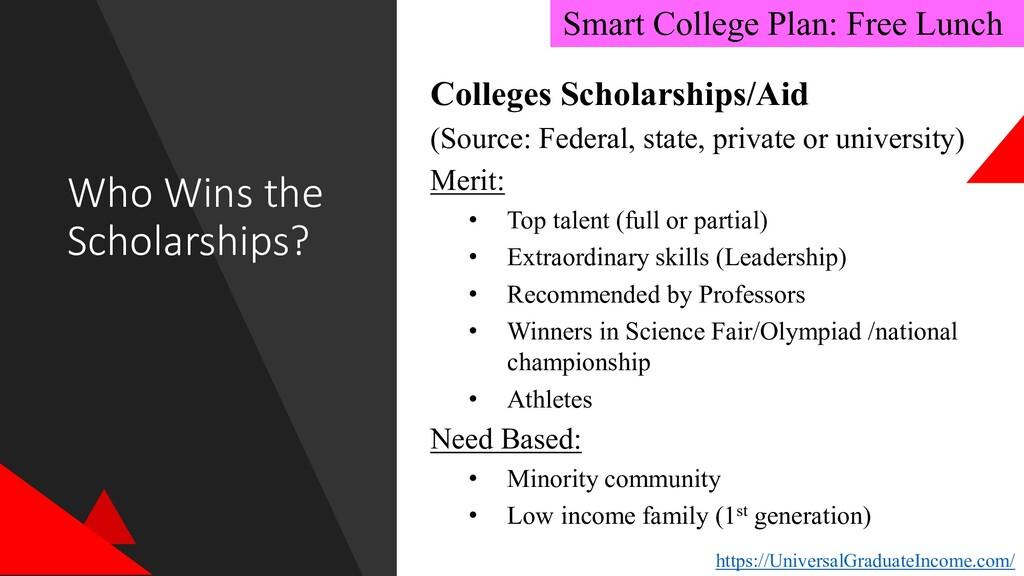Who Wins the Scholarships? https://UniversalGra...
