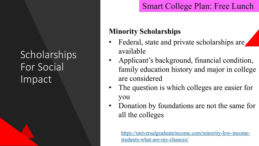 Scholarships For Social Impact Smart College Pl...