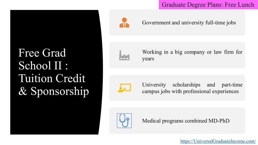 Free Grad School II : Tuition Credit & Sponsors...