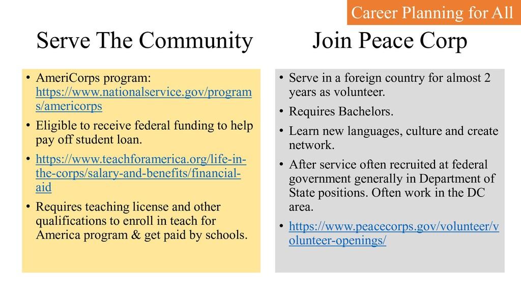 Serve The Community • AmeriCorps program: https...