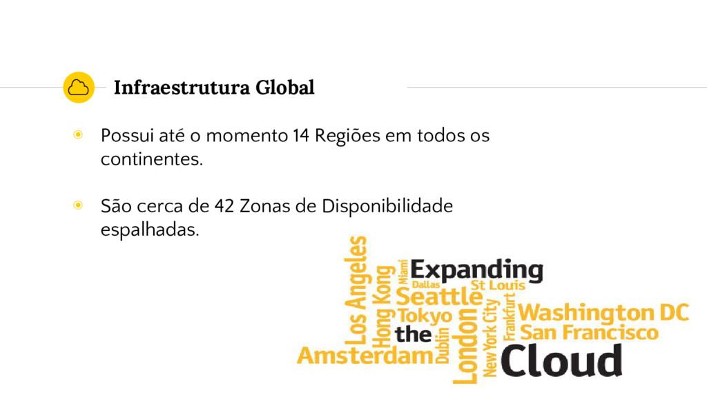 Infraestrutura Global ◉ Possui até o momento 14...