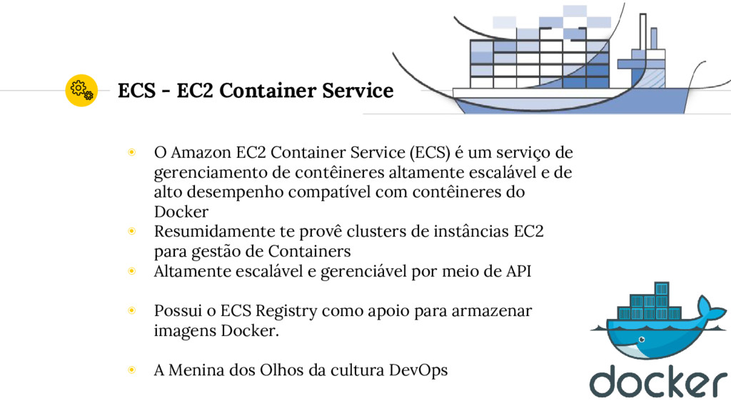 ECS - EC2 Container Service ◉ O Amazon EC2 Cont...