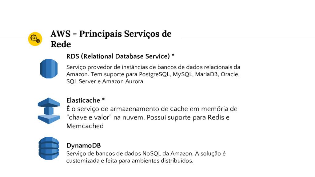 AWS - Principais Serviços de Rede RDS (Relation...