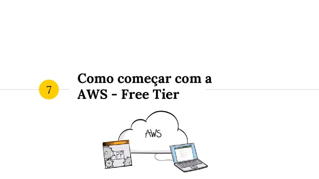 Como começar com a AWS - Free Tier 7