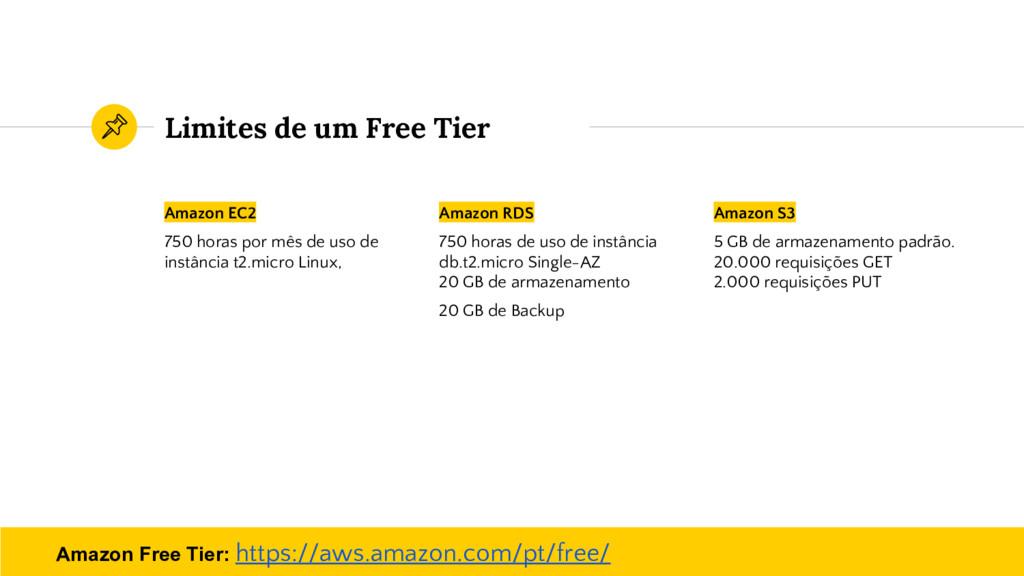 Limites de um Free Tier Amazon EC2 750 horas po...