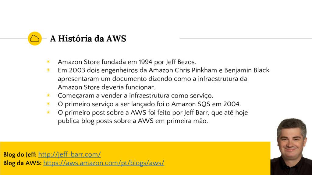 A História da AWS ◉ Amazon Store fundada em 199...
