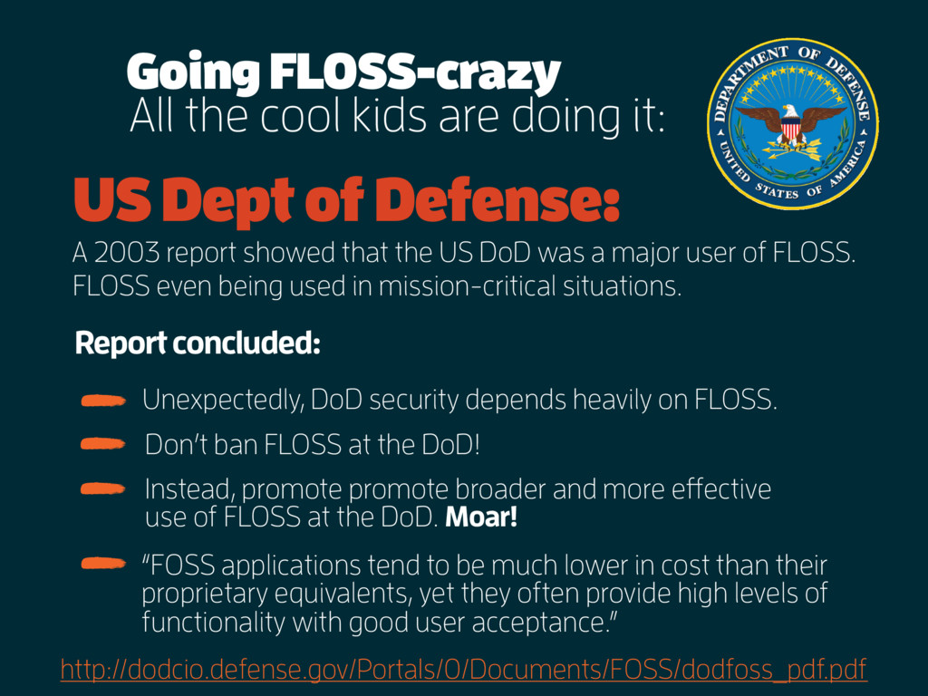All the cool kids are doing it: US Dept of Defe...