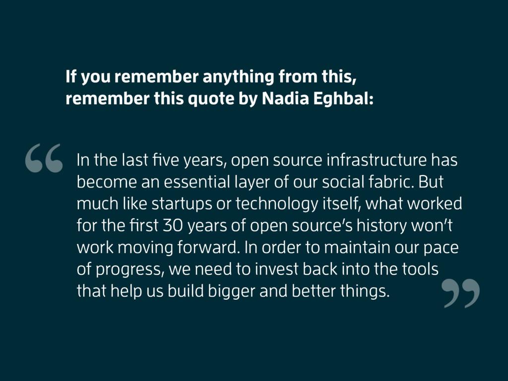 In the last five years, open source infrastructu...