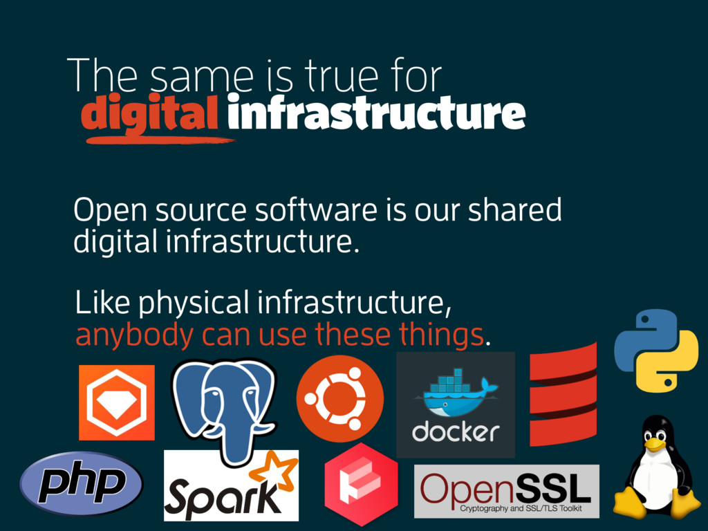 The same is true for digital infrastructure Ope...
