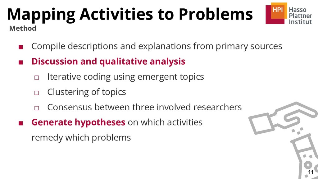 Mapping Activities to Problems 11 Method ■ Comp...