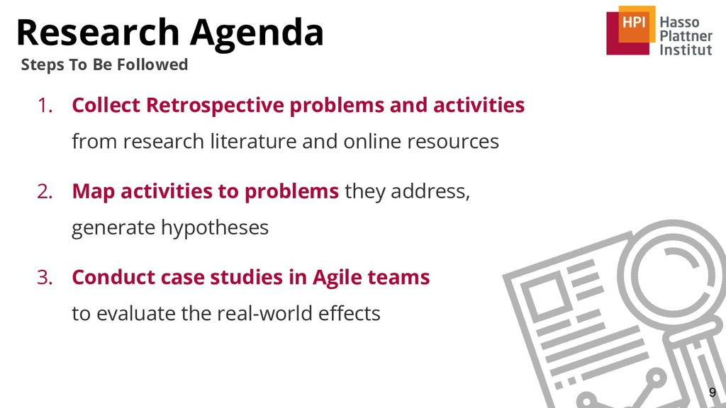 Research Agenda 9 Steps To Be Followed 1. Colle...