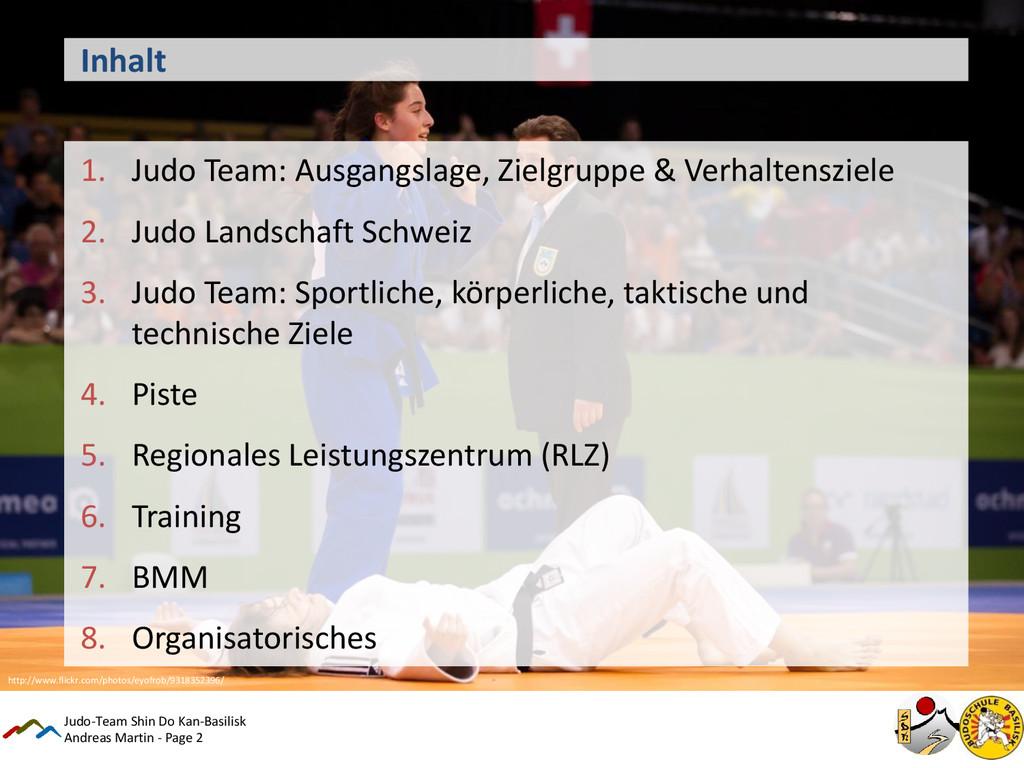Andreas Martin - Page 2 Inhalt 1. Judo Team: Au...
