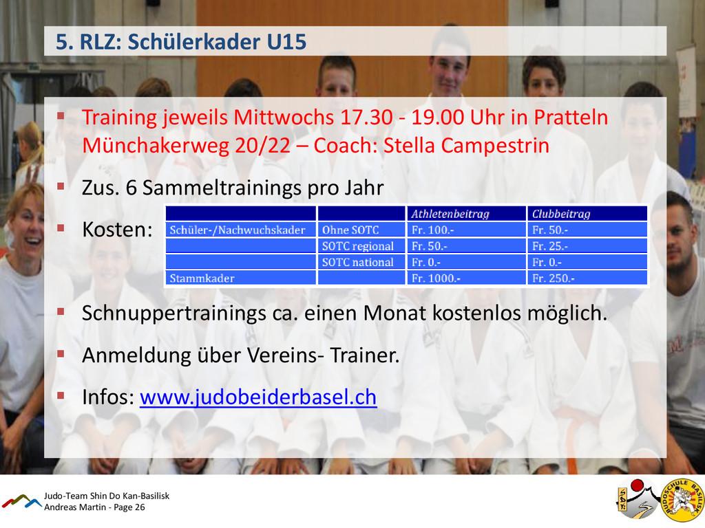 Andreas Martin - Page 26 5. RLZ: Schülerkader U...