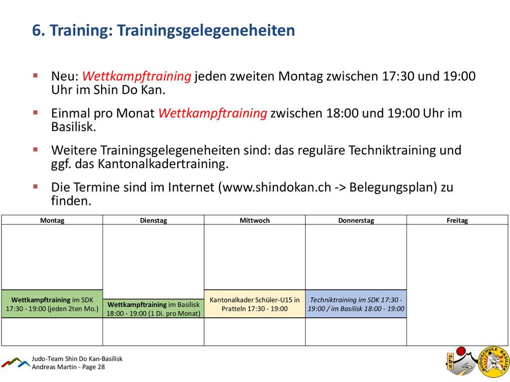 Andreas Martin - Page 28 6. Training: Trainings...