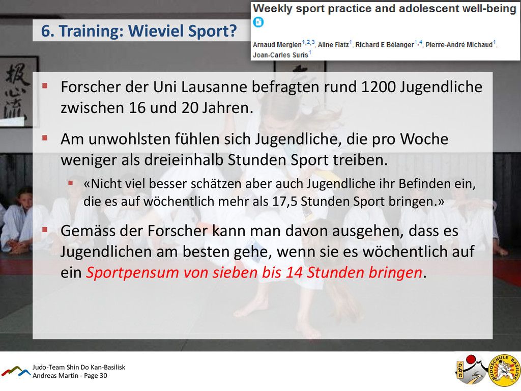 Andreas Martin - Page 30 6. Training: Wieviel S...