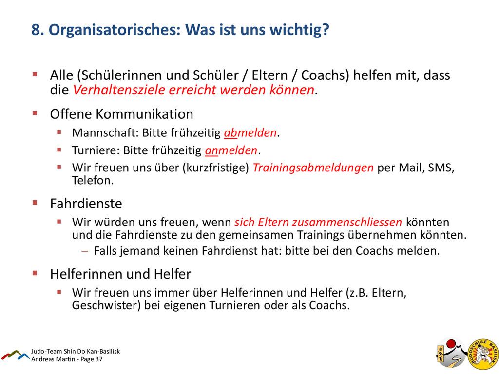 Andreas Martin - Page 37 8. Organisatorisches: ...