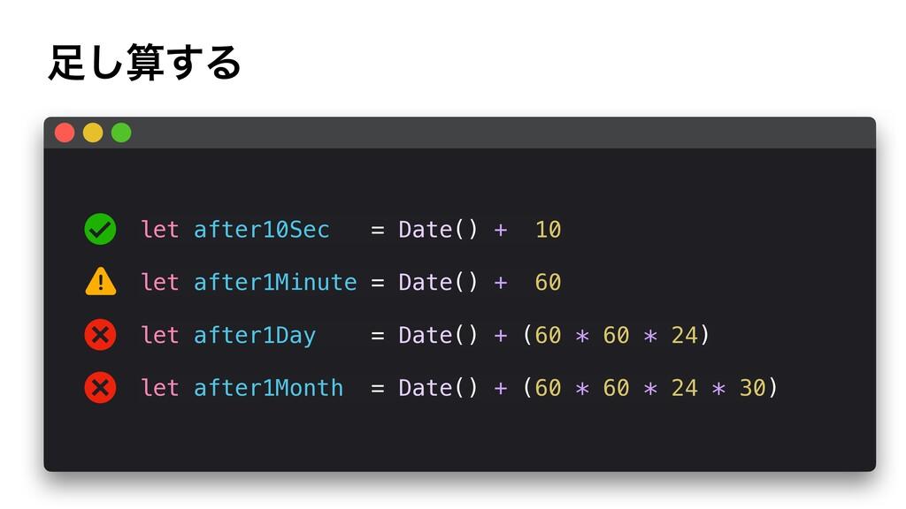 ͢͠Δ ! let after10Sec = Date() + 10 let after1...