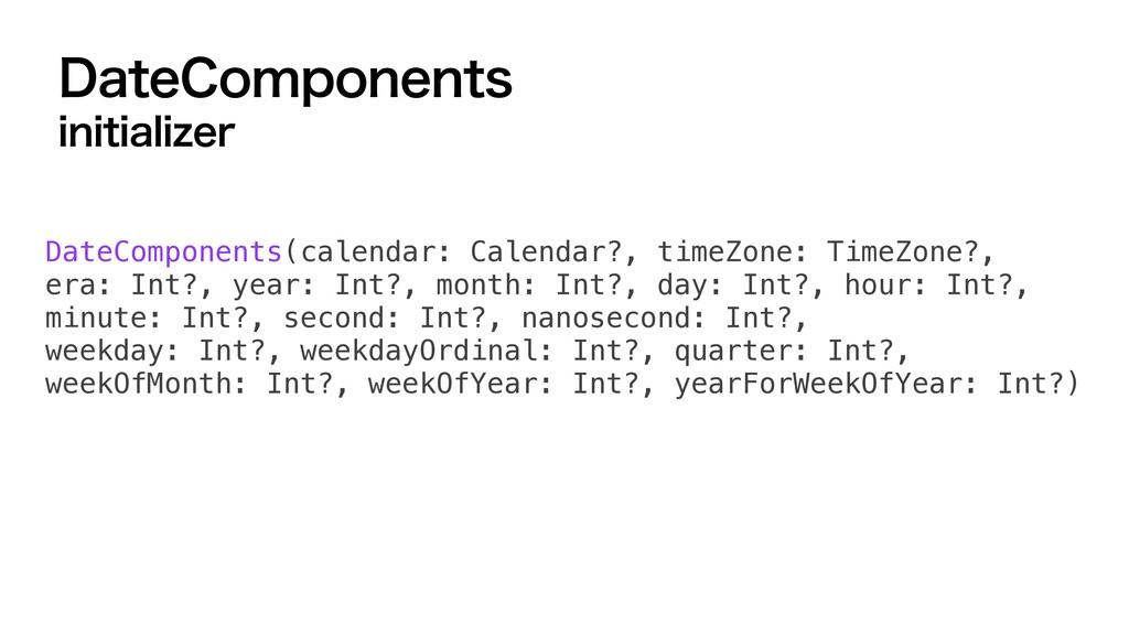 %BUF$PNQPOFOUT JOJUJBMJ[FS DateComponents(calen...
