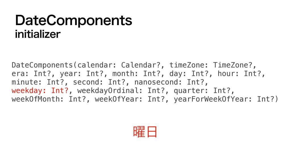 %BUF$PNQPOFOUT JOJUJBMJ[FS ༵ DateComponents(ca...