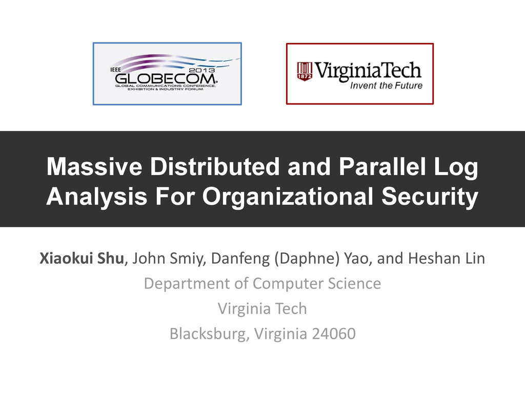 Massive Distributed and Parallel Log Analysis F...