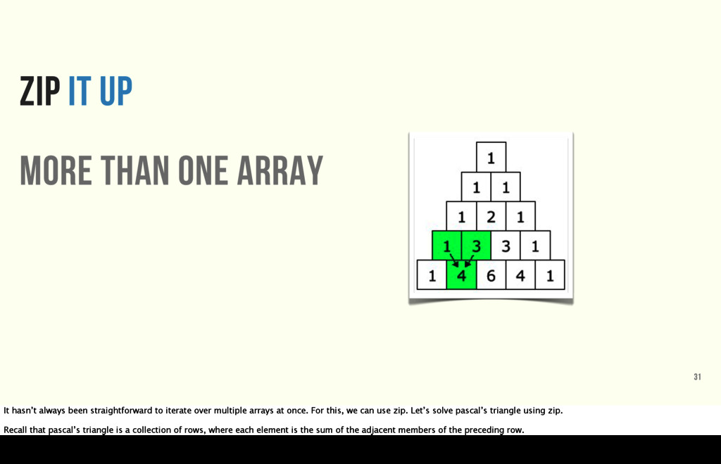 ZIP IT UP more than one array 31 It hasn't alwa...