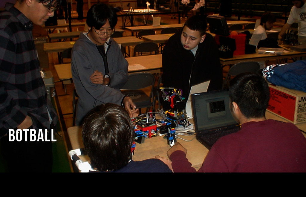 7 BOTBALL We learned how to program in C to man...