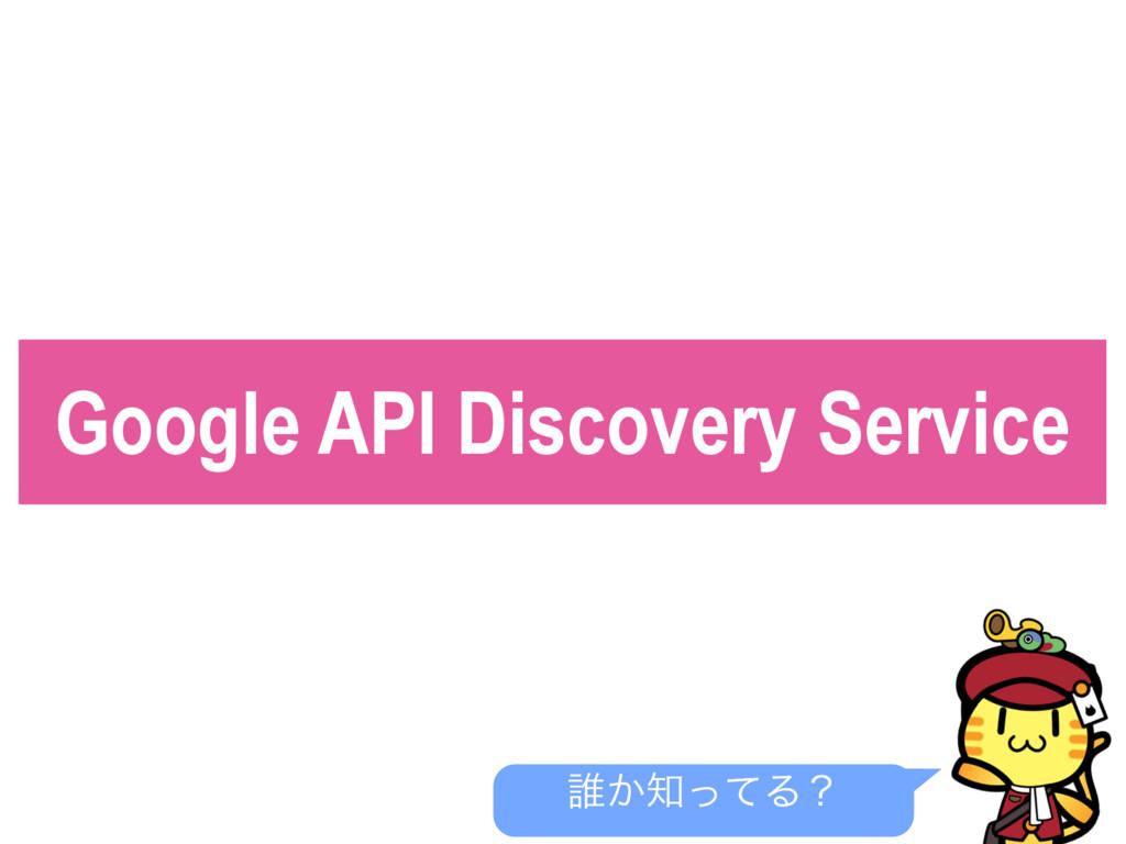 Google API Discovery Service ୭͔ͬͯΔʁ