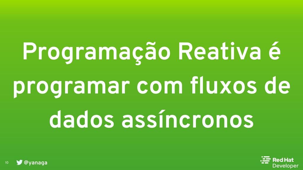 @yanaga 10 Programação Reativa é programar com ...