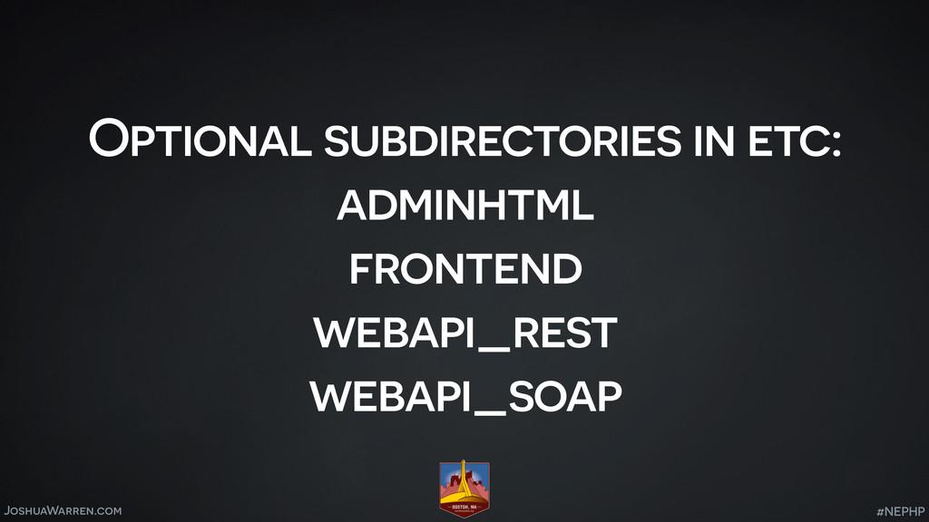 JoshuaWarren.com Optional subdirectories in etc...