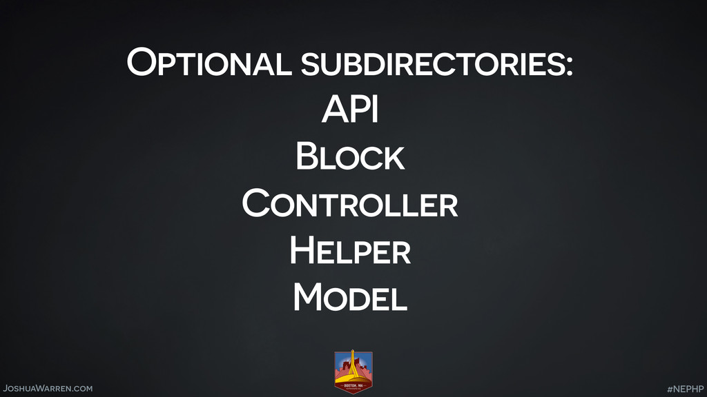 JoshuaWarren.com Optional subdirectories: API B...