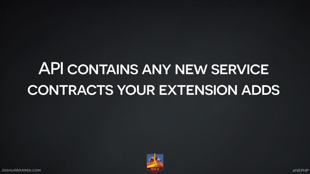 JoshuaWarren.com API contains any new service c...