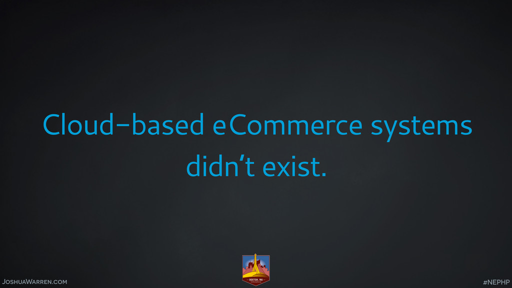 JoshuaWarren.com Cloud-based eCommerce systems ...