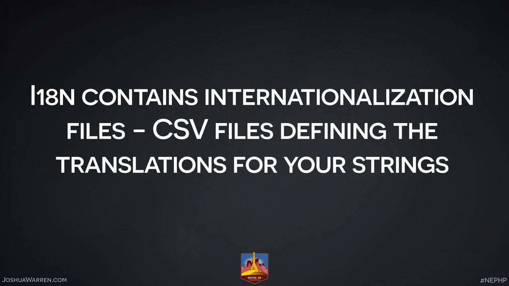 JoshuaWarren.com I18n contains internationaliza...