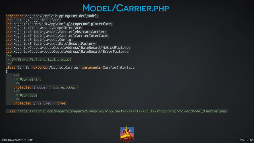JoshuaWarren.com #NEPHP Model/Carrier.php names...