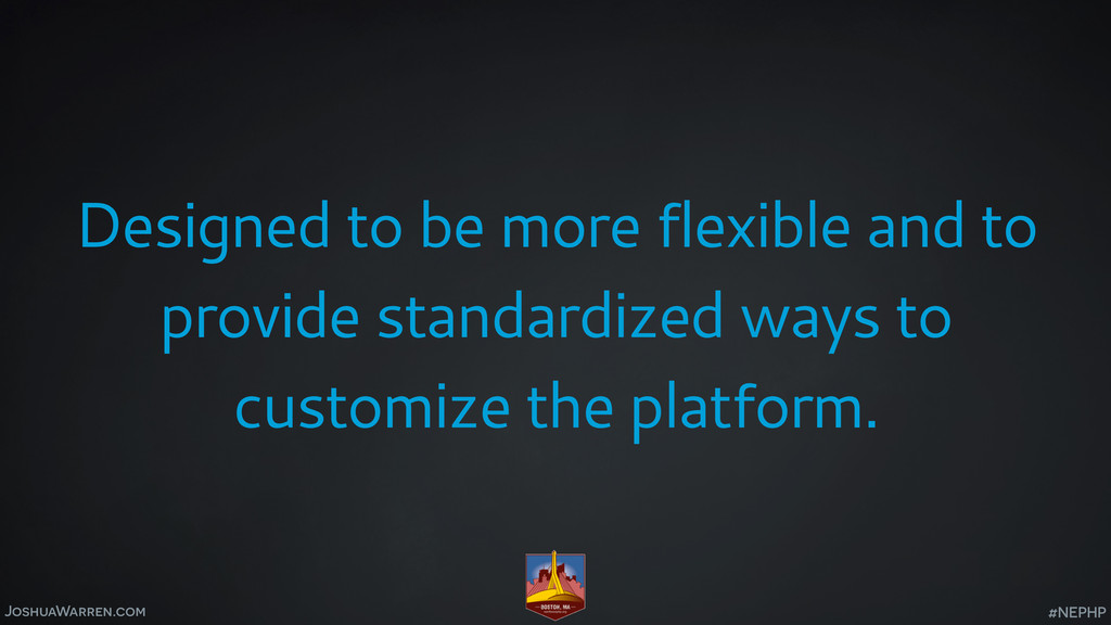 JoshuaWarren.com Designed to be more flexible a...