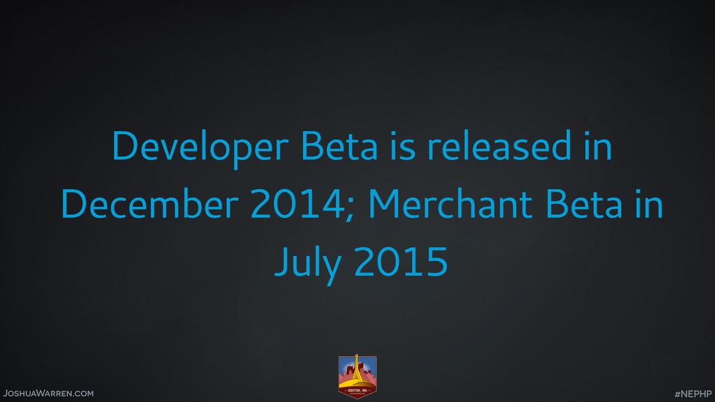 JoshuaWarren.com Developer Beta is released in ...