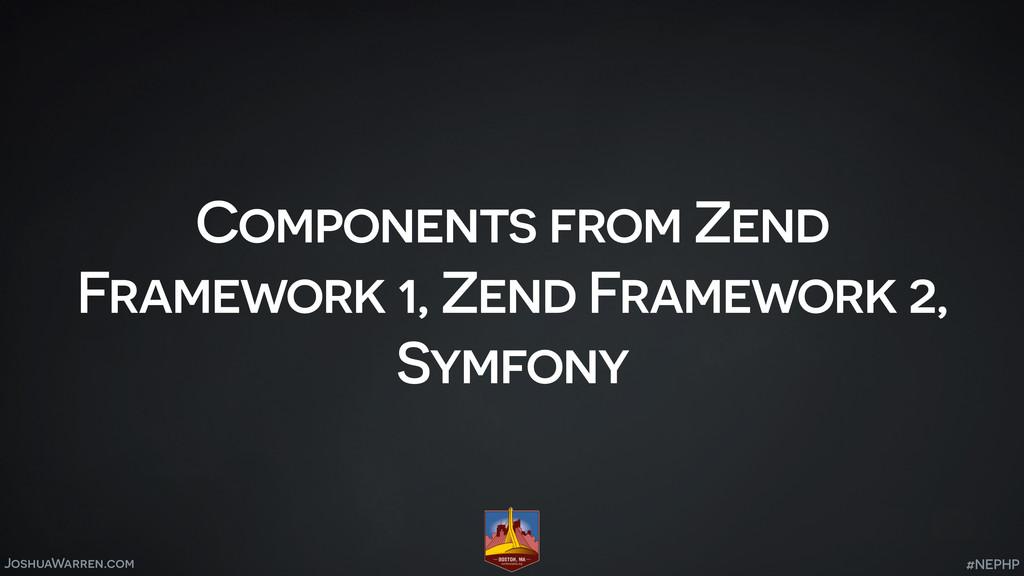 JoshuaWarren.com Components from Zend Framework...