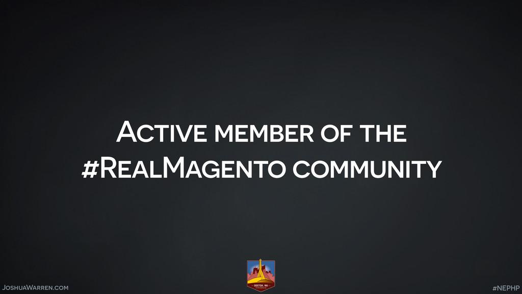 JoshuaWarren.com Active member of the #RealMage...