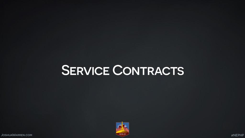 JoshuaWarren.com Service Contracts #NEPHP