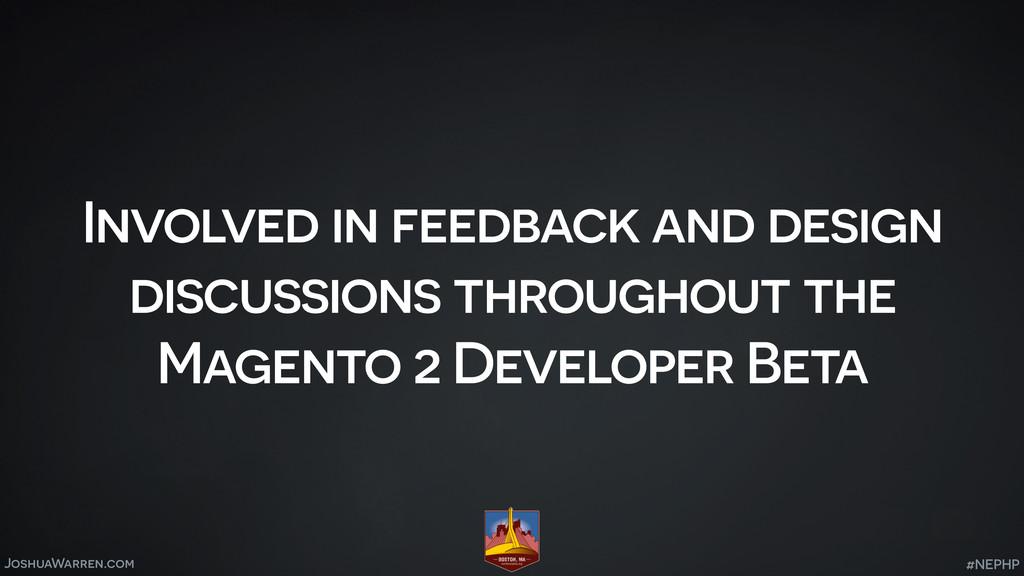 JoshuaWarren.com Involved in feedback and desig...