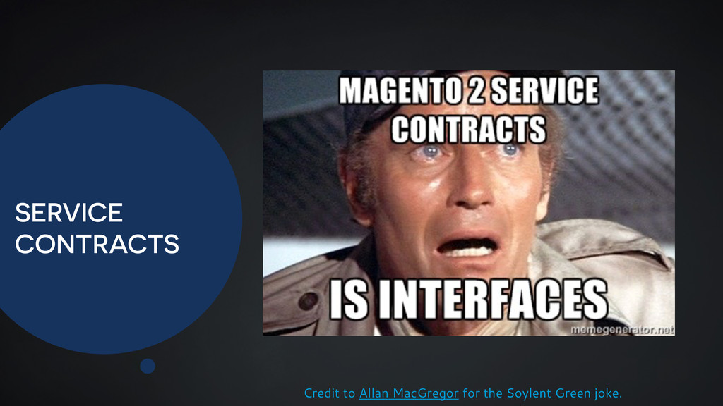 SERVICE CONTRACTS Credit to Allan MacGregor for...