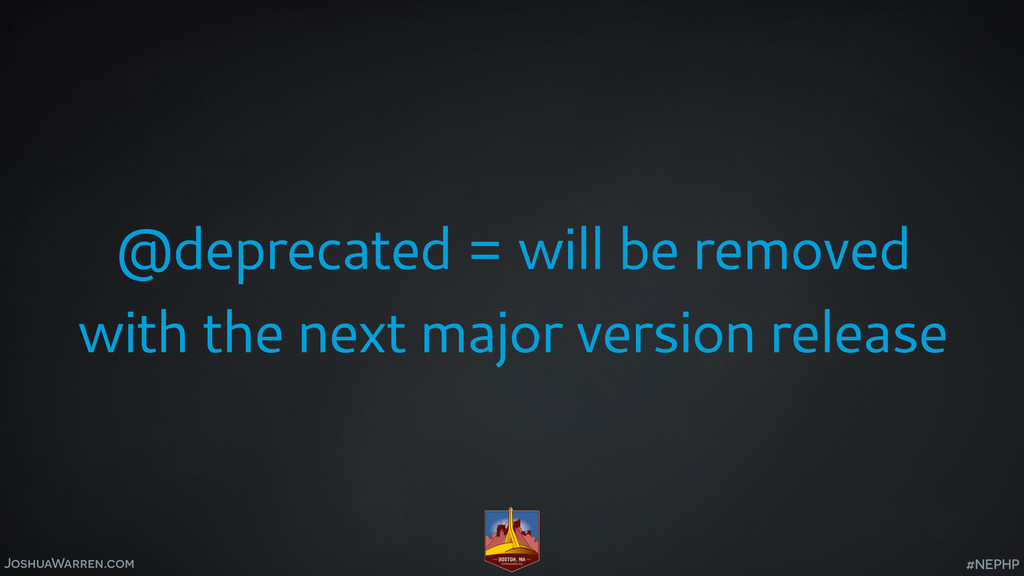 JoshuaWarren.com @deprecated = will be removed ...